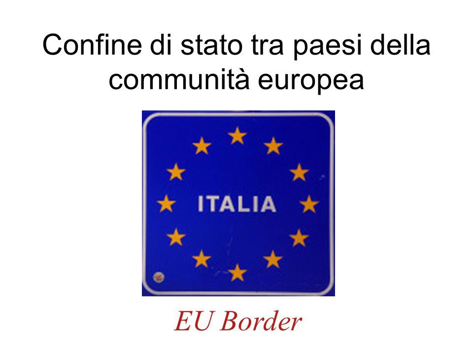 Confine di stato tra paesi della communità europea