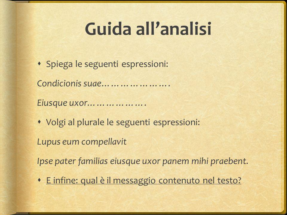 Guida all'analisi Spiega le seguenti espressioni: