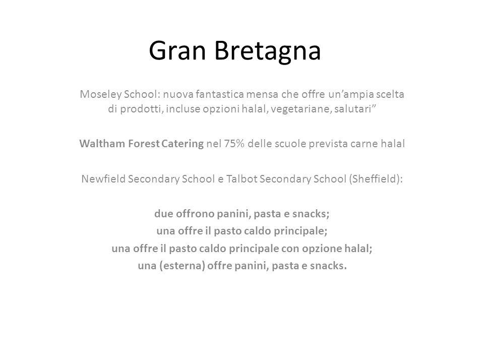 Gran Bretagna Moseley School: nuova fantastica mensa che offre un'ampia scelta di prodotti, incluse opzioni halal, vegetariane, salutari