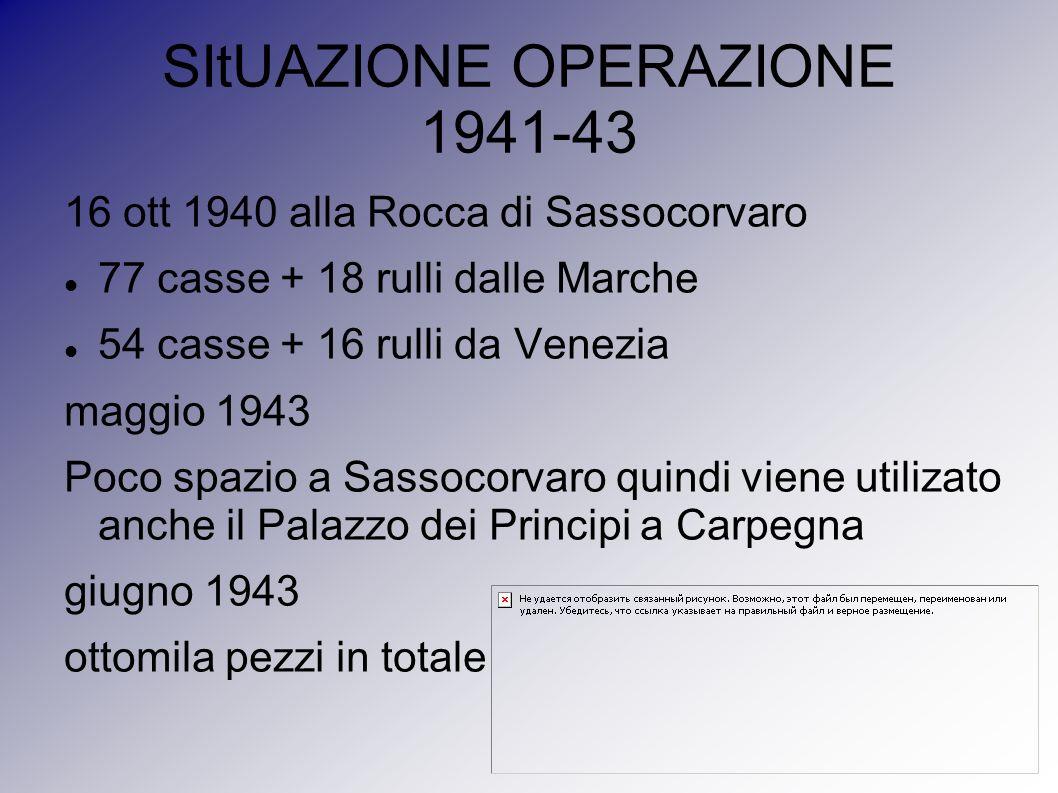 SItUAZIONE OPERAZIONE 1941-43