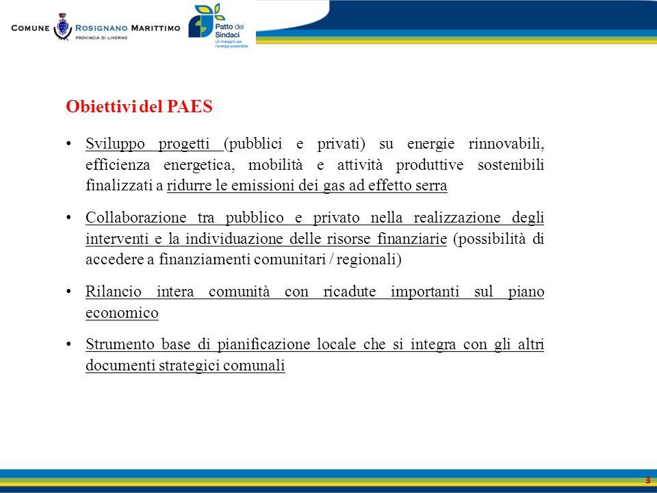Obiettivi del PAES