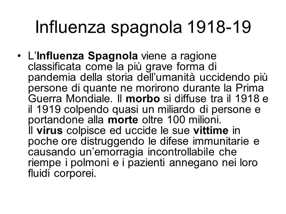 Influenza spagnola 1918-19