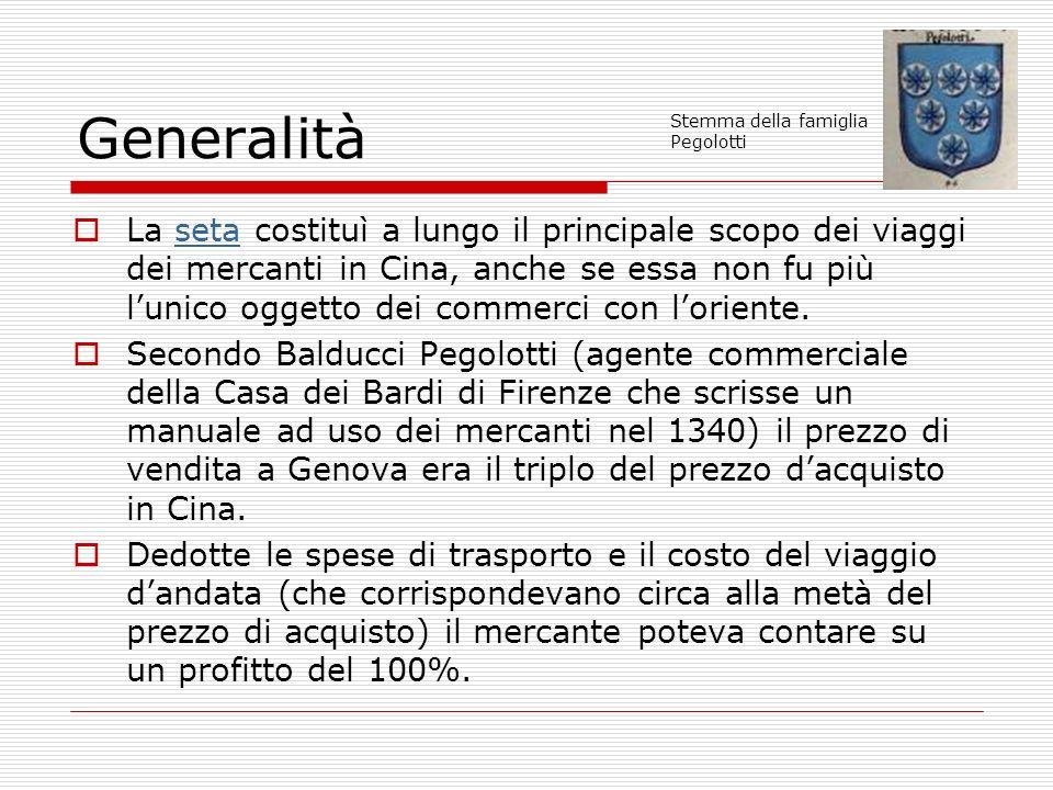 Generalità Stemma della famiglia Pegolotti.