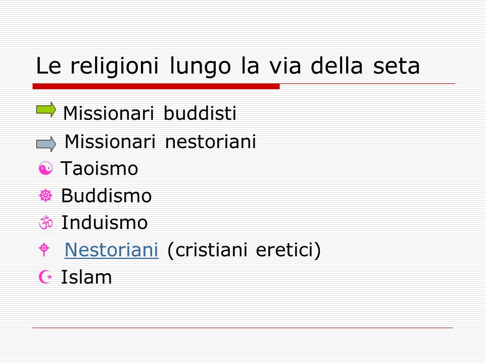 Le religioni lungo la via della seta