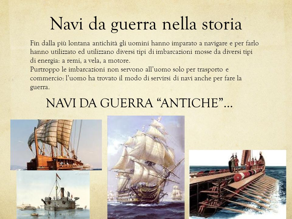 Navi da guerra nella storia