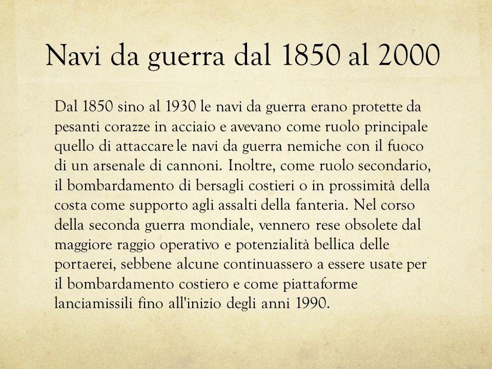 Navi da guerra dal 1850 al 2000