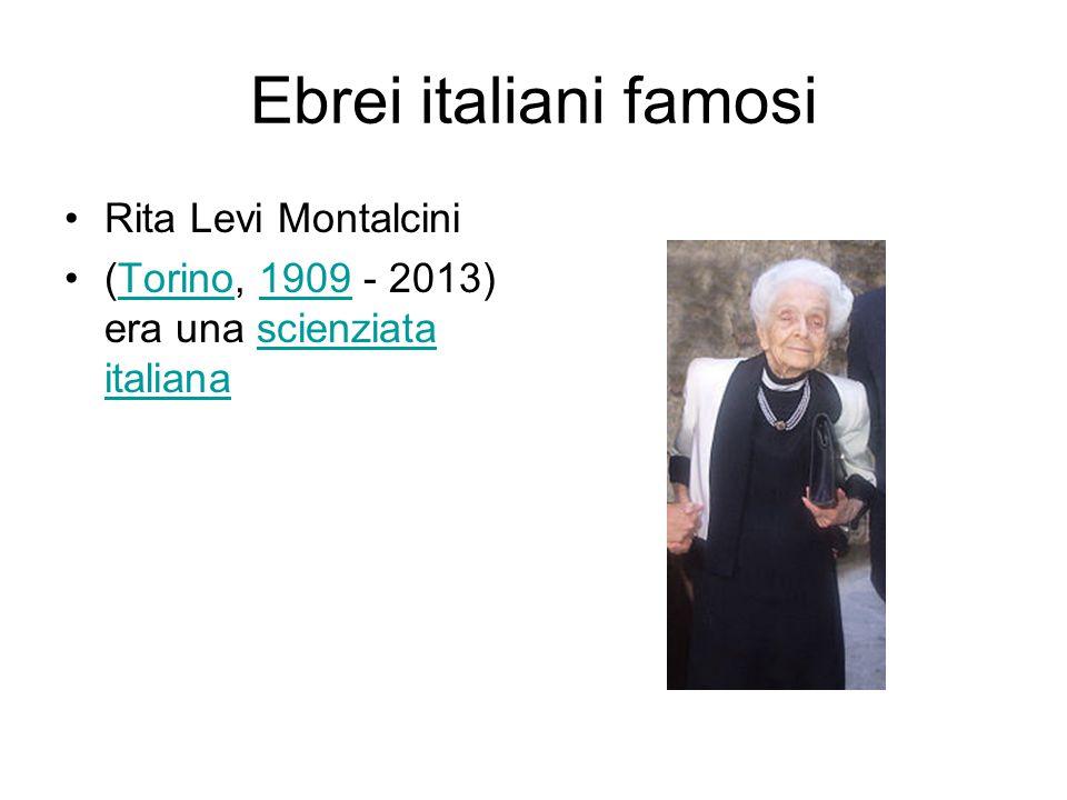 Ebrei italiani famosi Rita Levi Montalcini