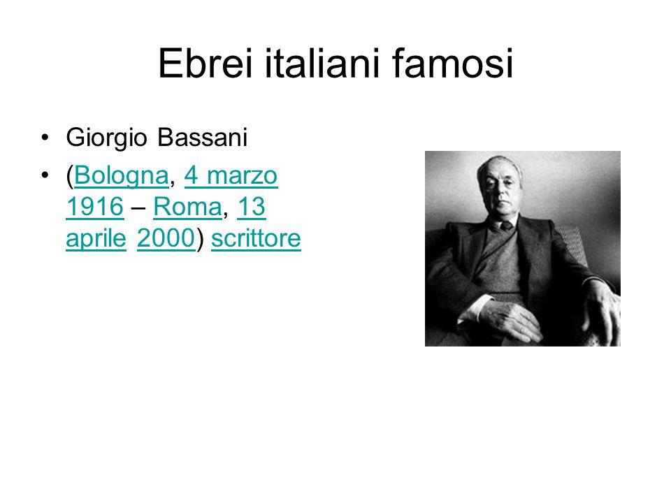 Ebrei italiani famosi Giorgio Bassani