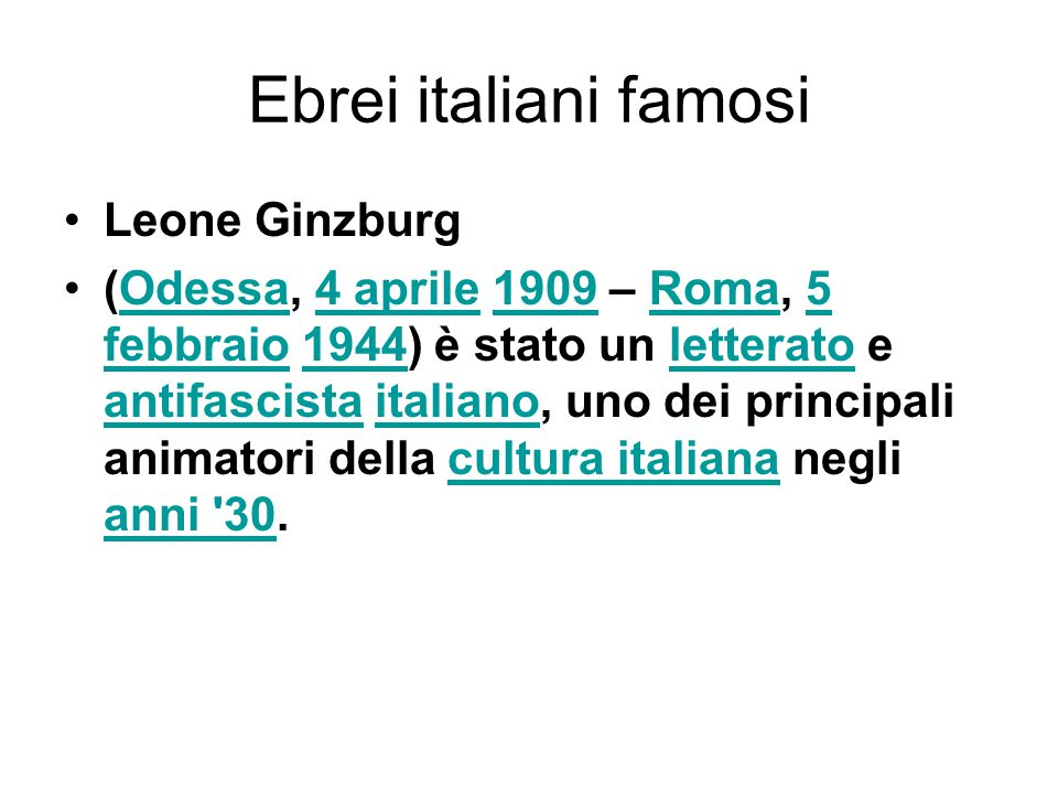 Ebrei italiani famosi Leone Ginzburg