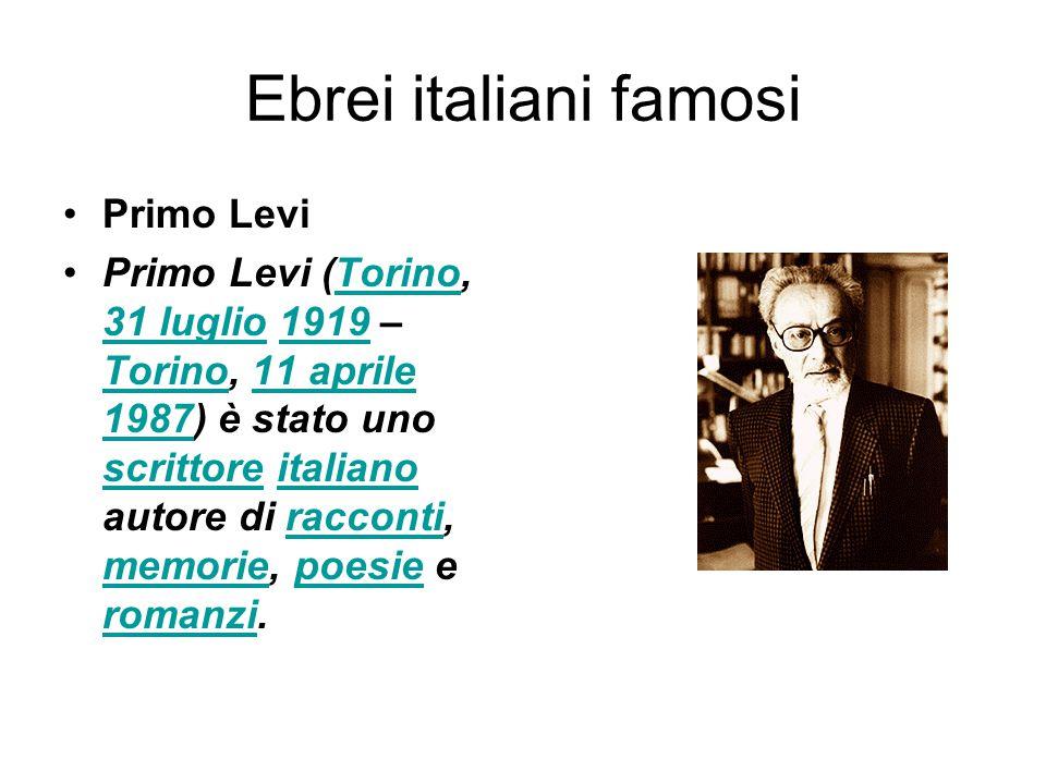 Ebrei italiani famosi Primo Levi