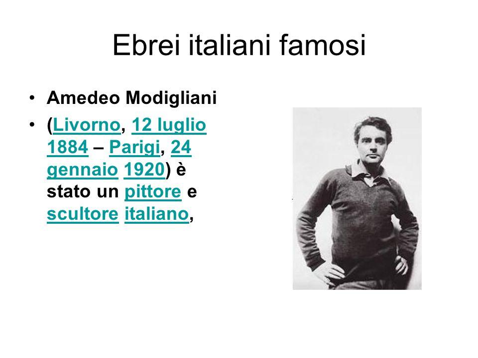 Ebrei italiani famosi Amedeo Modigliani