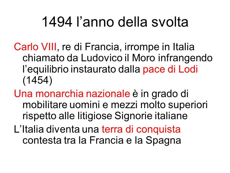 1494 l'anno della svolta