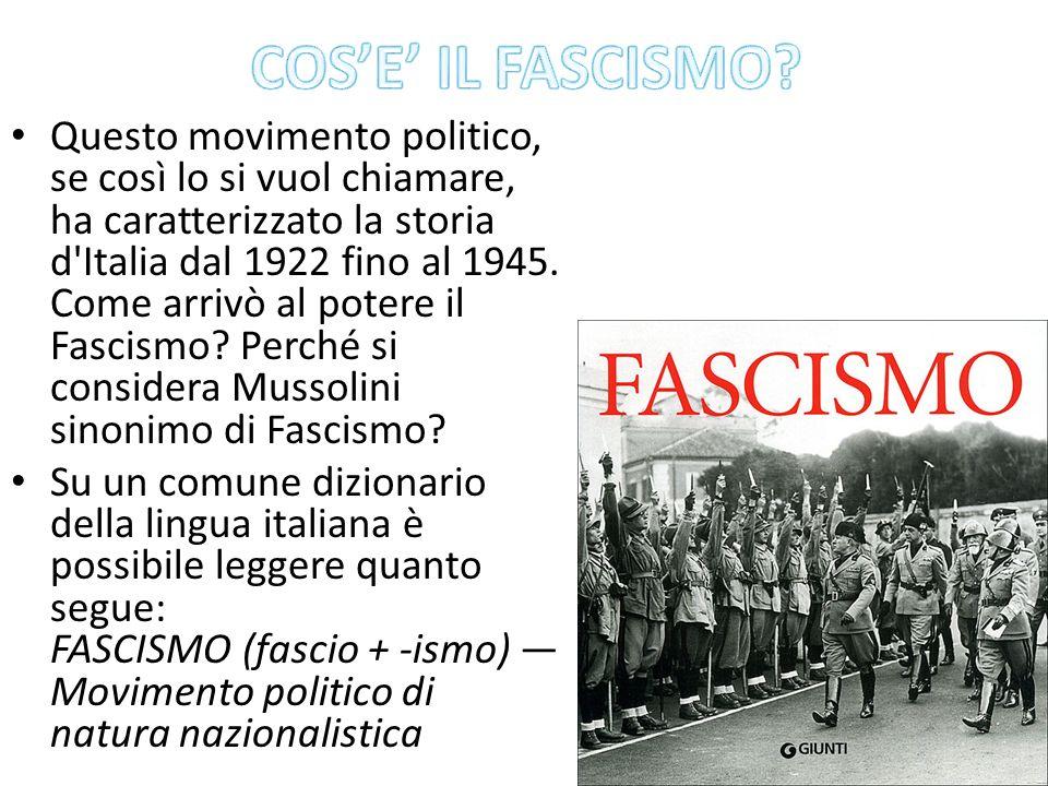 COS'E' IL FASCISMO