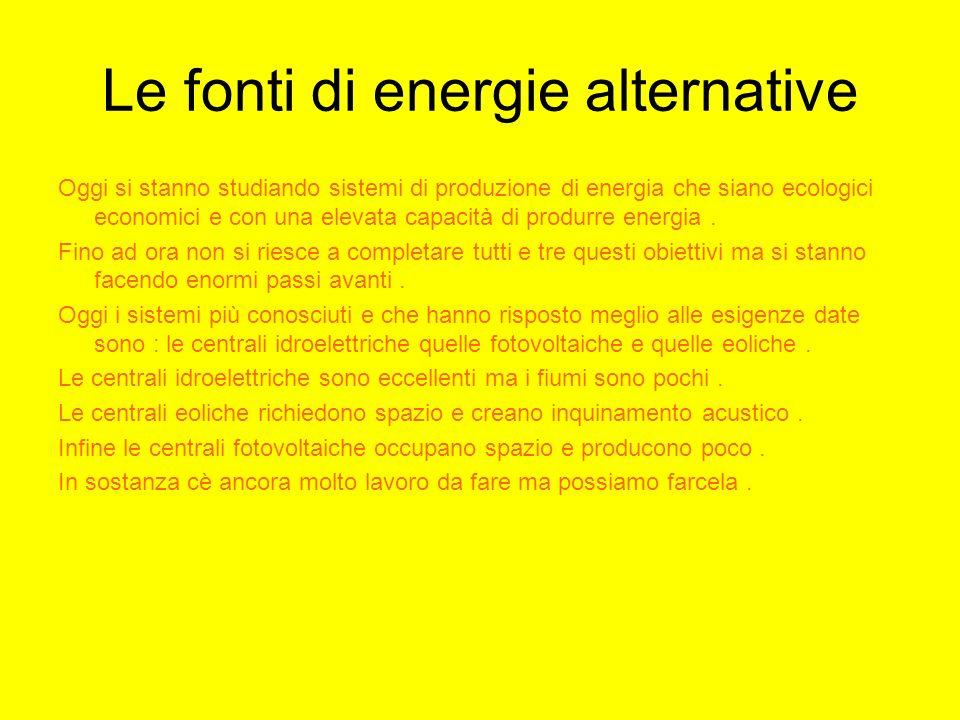 Le fonti di energie alternative