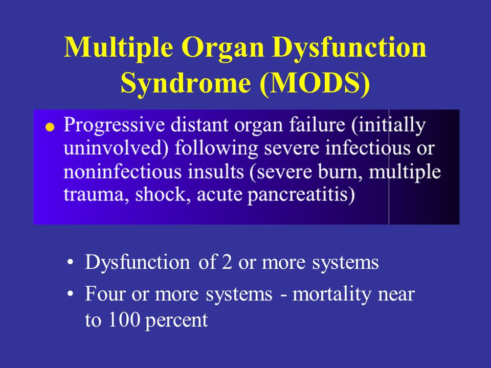 Multiple Organ Dysfunction Syndrome (MODS)