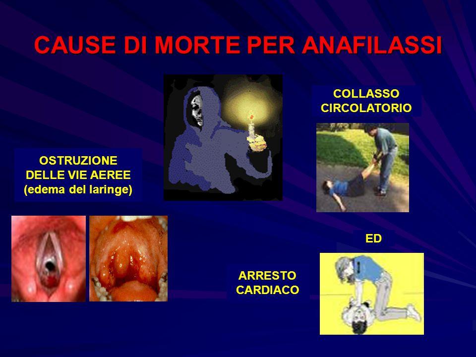 CAUSE DI MORTE PER ANAFILASSI