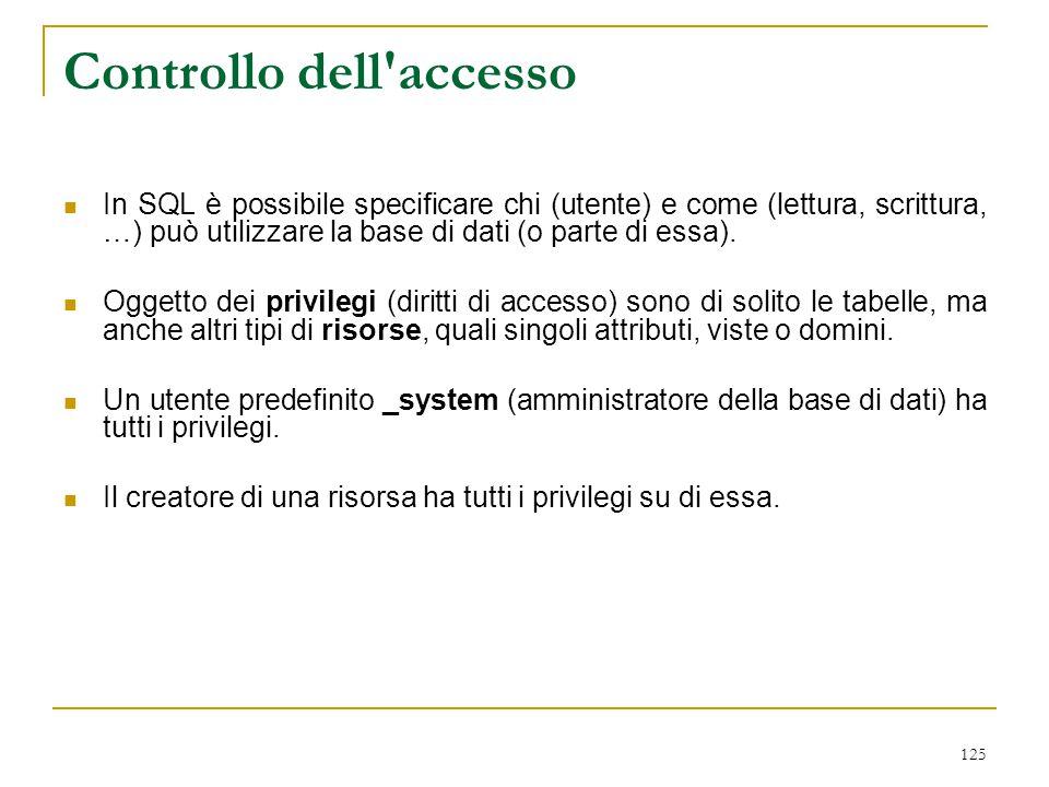 Controllo dell accesso