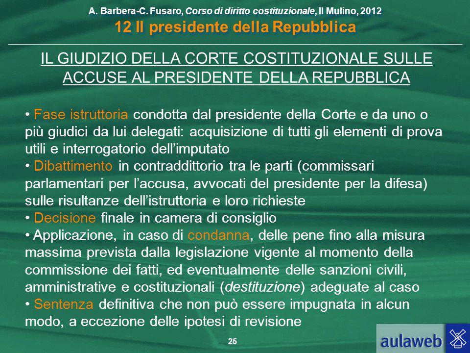 IL GIUDIZIO DELLA CORTE COSTITUZIONALE SULLE ACCUSE AL PRESIDENTE DELLA REPUBBLICA