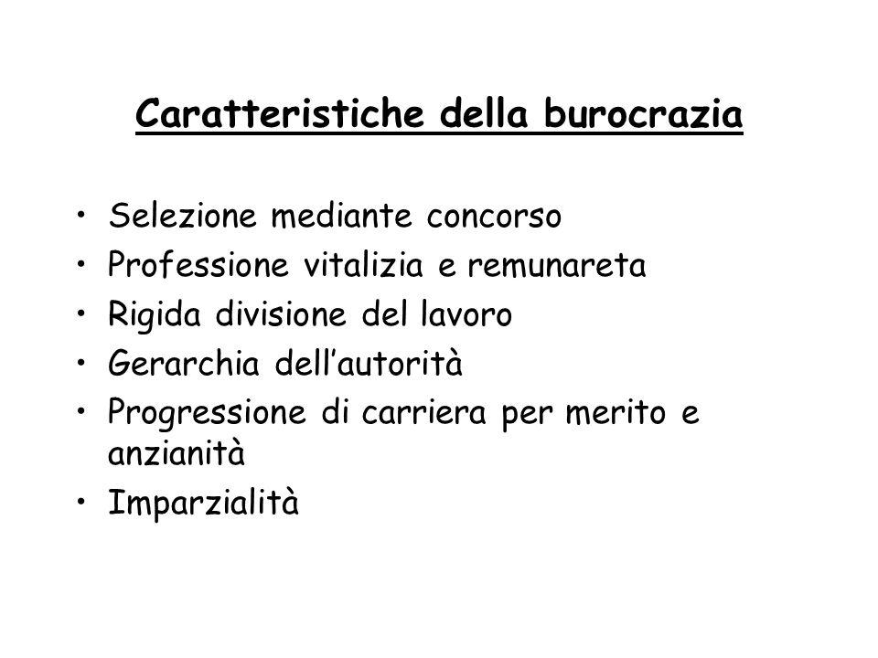 Caratteristiche della burocrazia