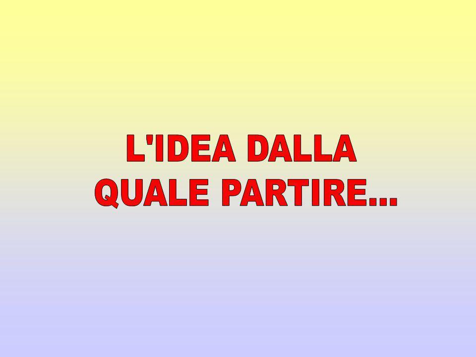 L IDEA DALLA QUALE PARTIRE...
