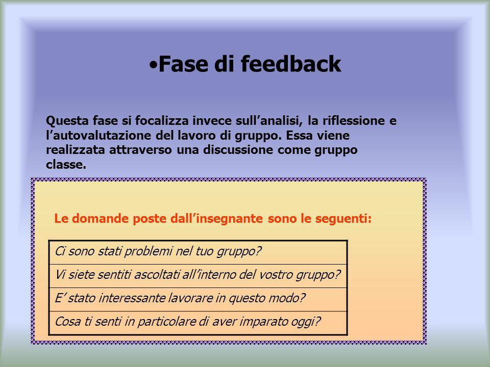 Fase di feedback