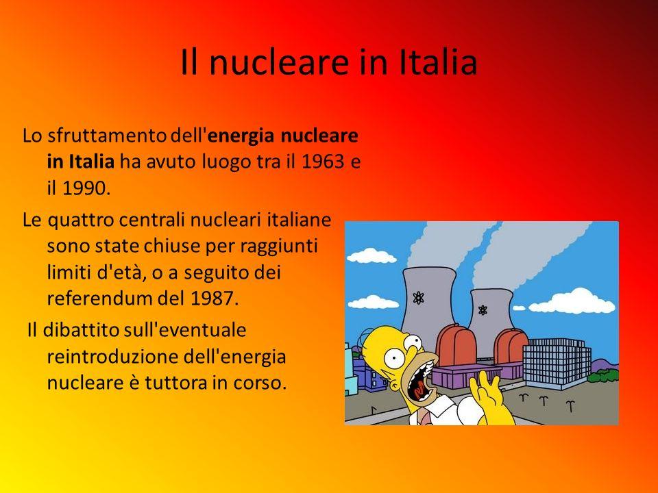 Il nucleare in Italia