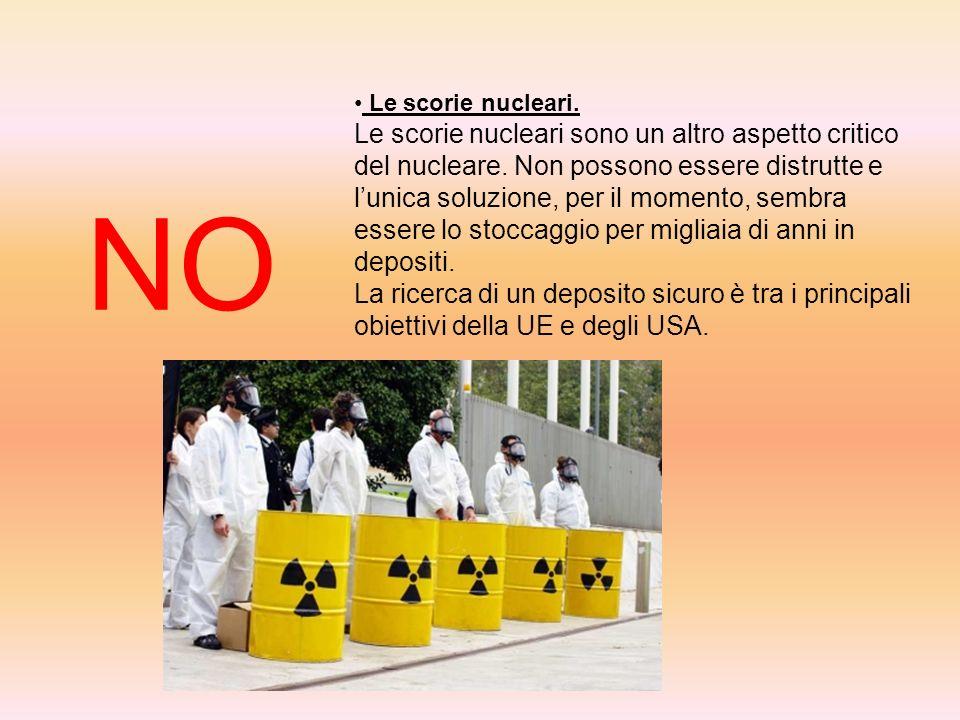 Le scorie nucleari.