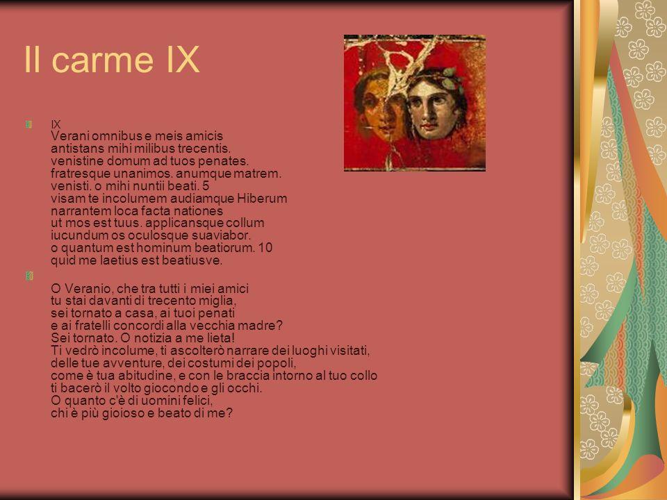Il carme IX