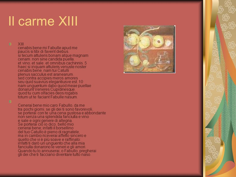 Il carme XIII