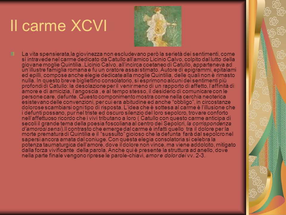 Il carme XCVI
