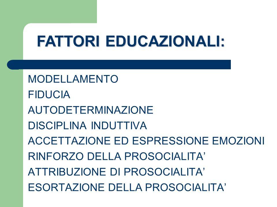 FATTORI EDUCAZIONALI: