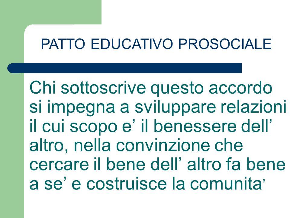 PATTO EDUCATIVO PROSOCIALE