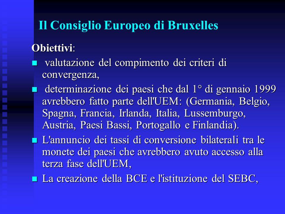 Il Consiglio Europeo di Bruxelles