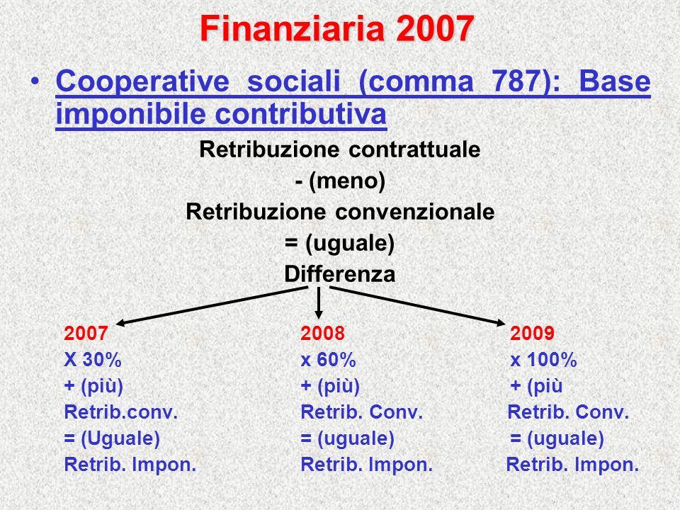 Retribuzione contrattuale Retribuzione convenzionale
