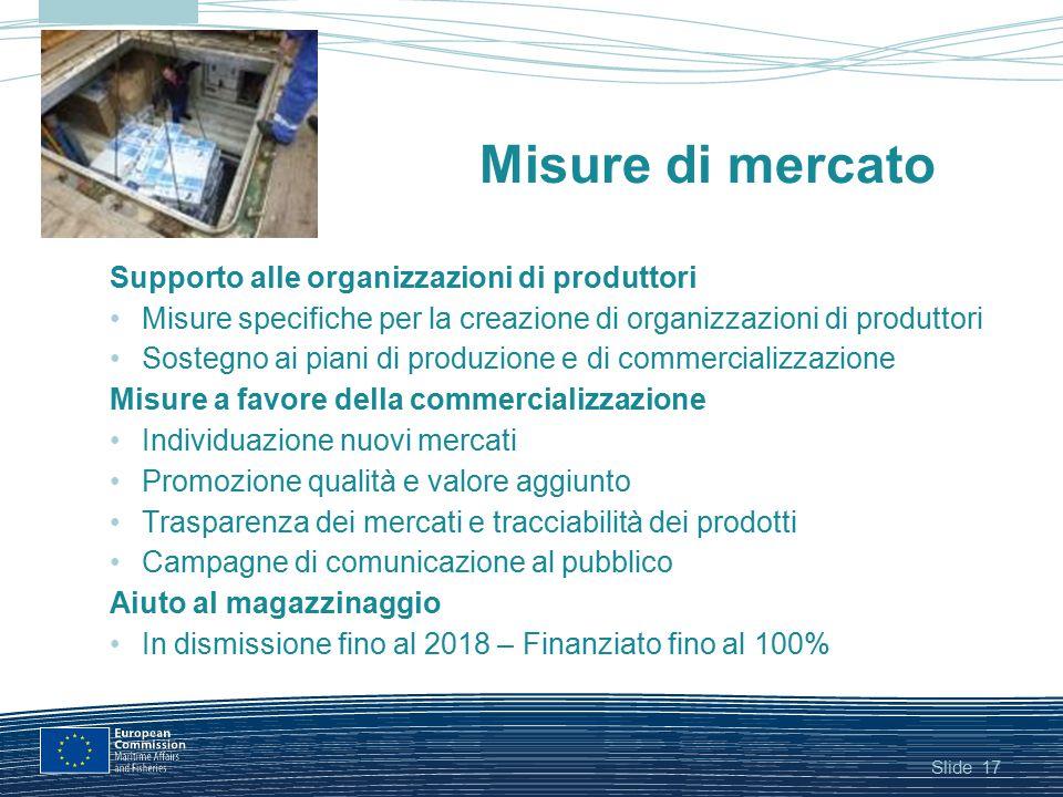 Misure di mercato Supporto alle organizzazioni di produttori