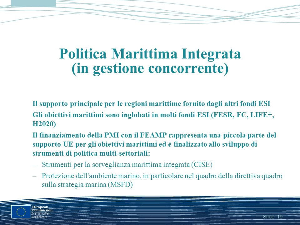 Politica Marittima Integrata (in gestione concorrente)