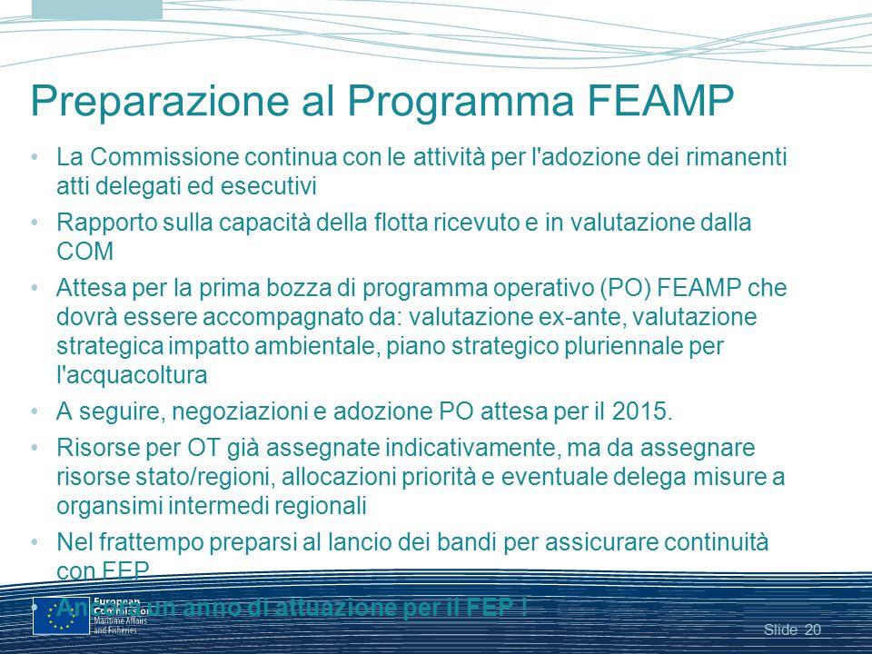 Preparazione al Programma FEAMP