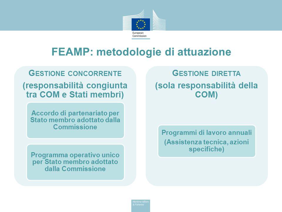 FEAMP: metodologie di attuazione