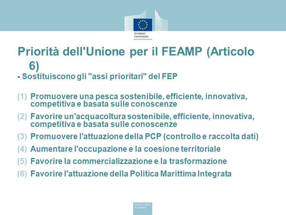 Priorità dell Unione per il FEAMP (Articolo 6)