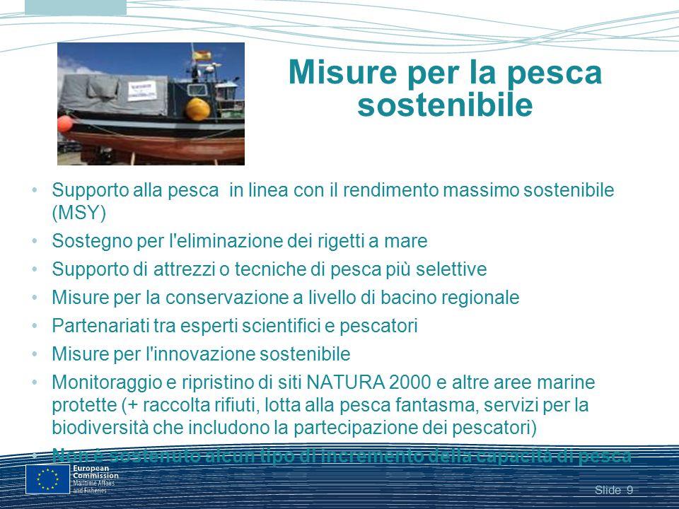 Misure per la pesca sostenibile