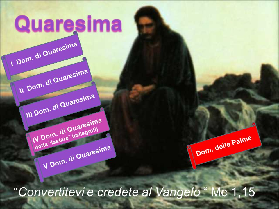 Convertitevi e credete al Vangelo Mc 1,15