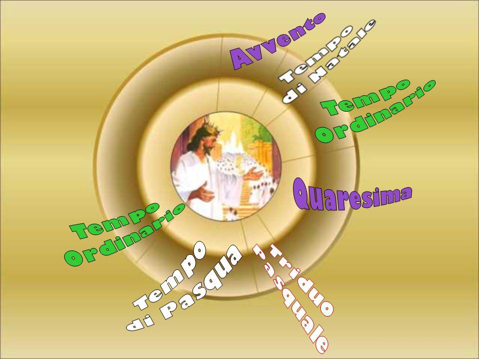 Avvento Tempo Ordinario Quaresima Tempo Ordinario Tempo di Pasqua Triduo Pasquale