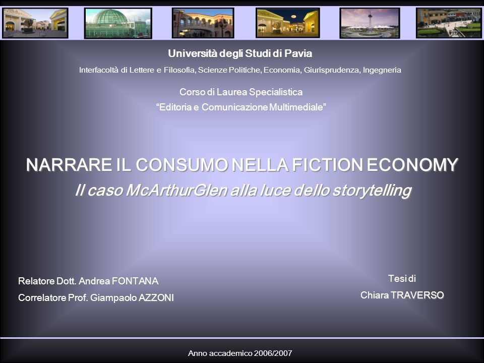 NARRARE IL CONSUMO NELLA FICTION ECONOMY