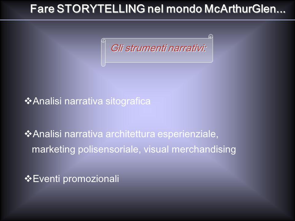 Fare STORYTELLING nel mondo McArthurGlen...
