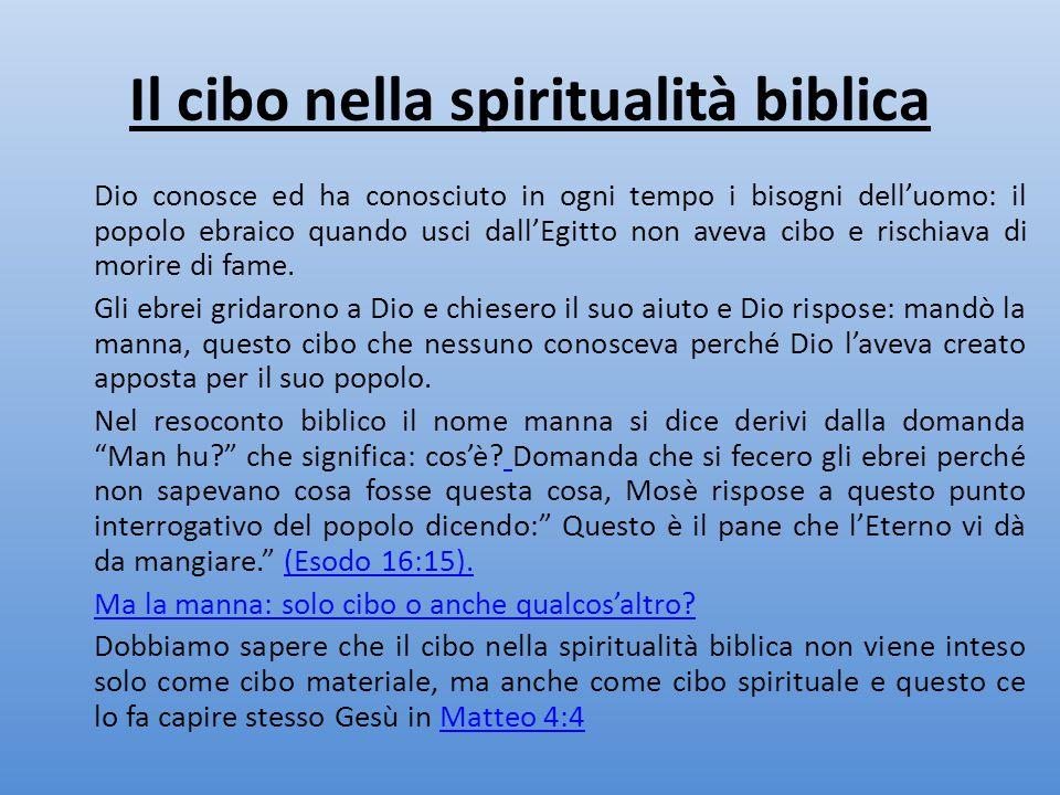 Il cibo nella spiritualità biblica