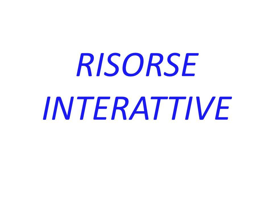 RISORSE INTERATTIVE