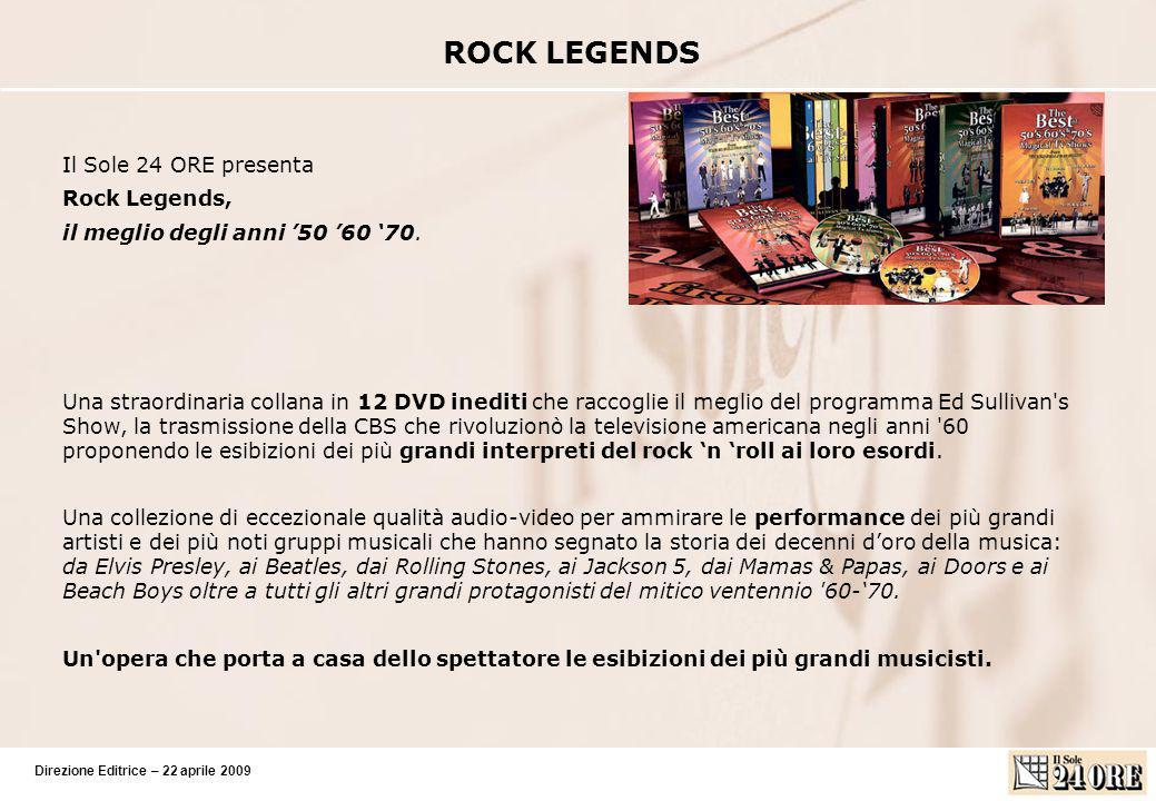 ROCK LEGENDS Il Sole 24 ORE presenta Rock Legends,