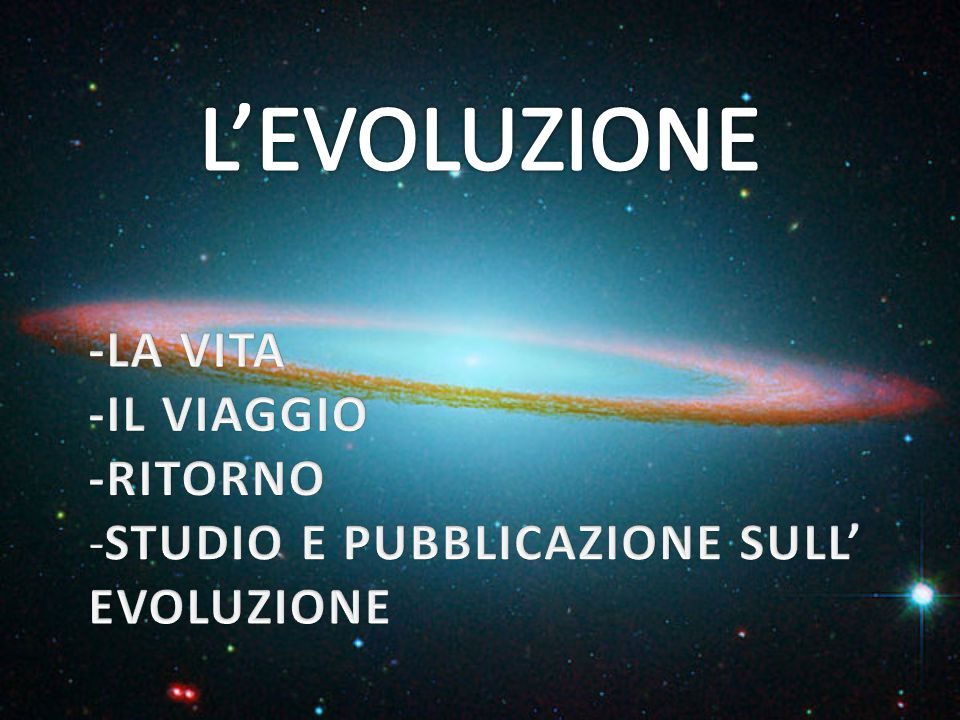 L'EVOLUZIONE -LA VITA -IL VIAGGIO -RITORNO
