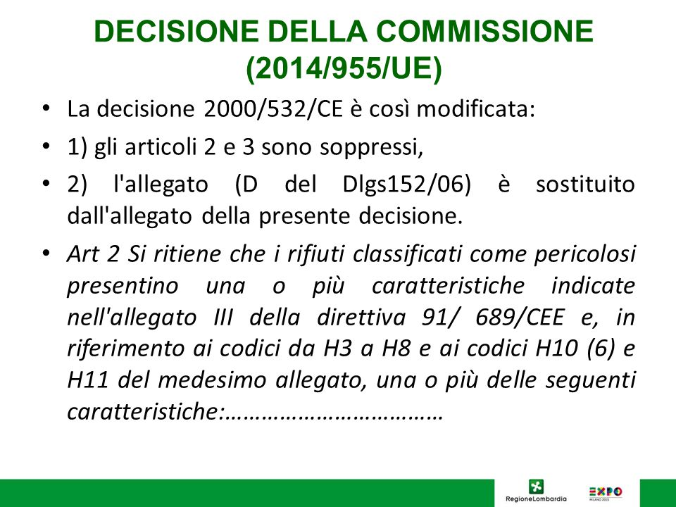 DECISIONE DELLA COMMISSIONE (2014/955/UE)