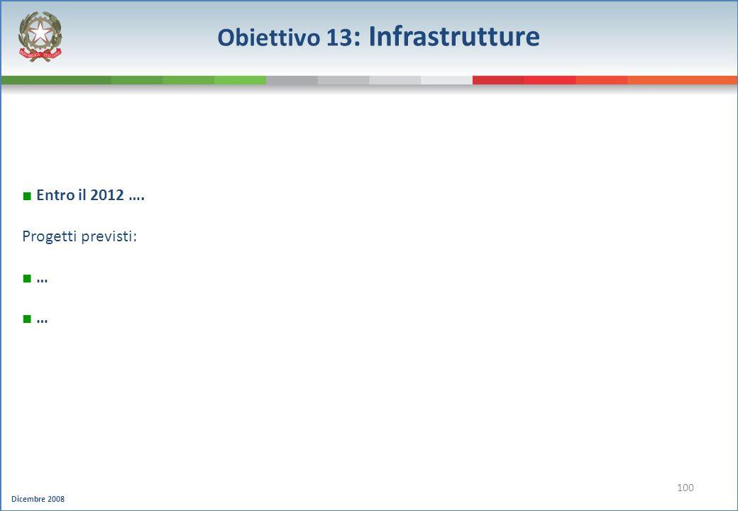 Obiettivo 13: Infrastrutture